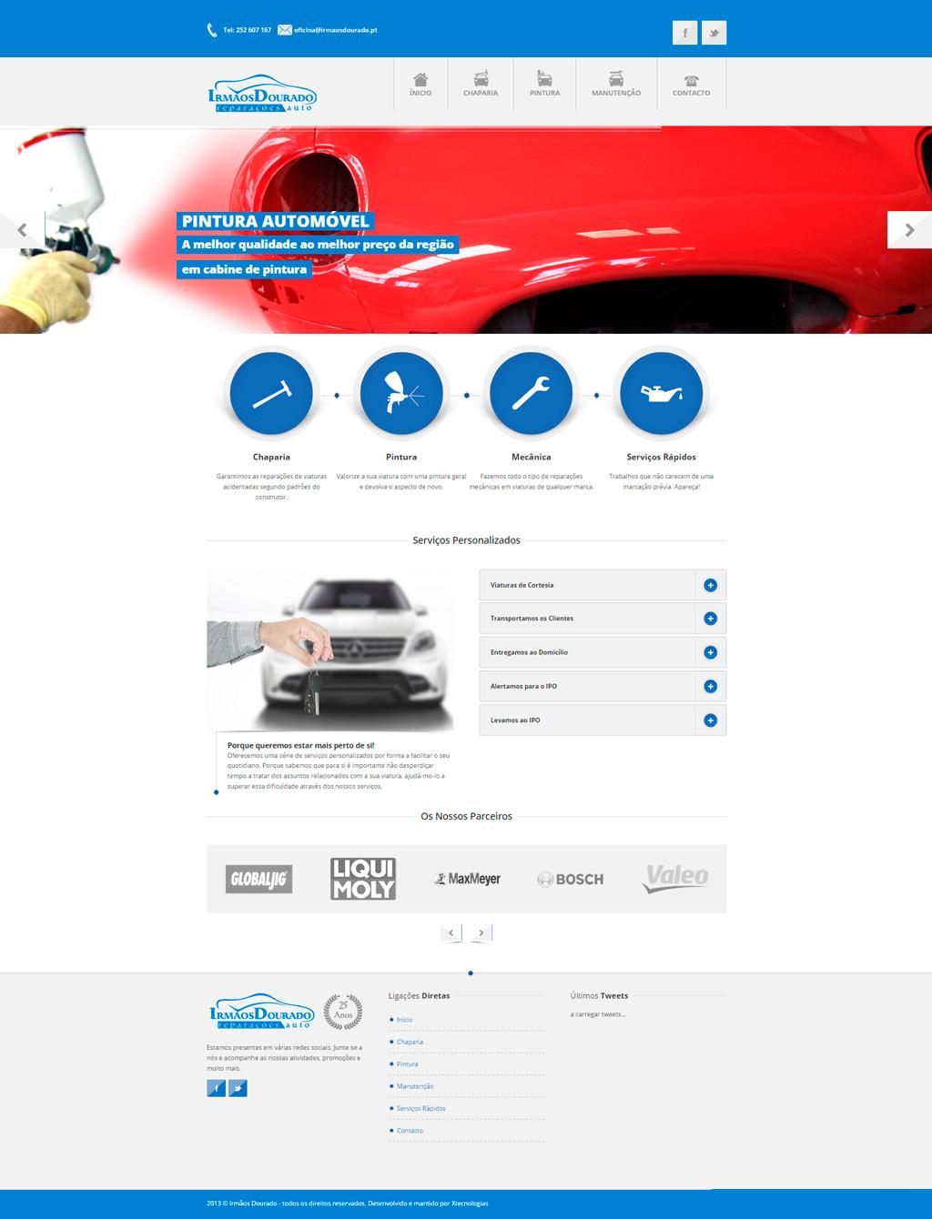 Website Irmãos Dourado - reparações auto
