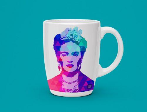 Estampa caneca Frida Kahlo LR Estúdio