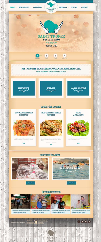 Website Restaurante Saint Tropez