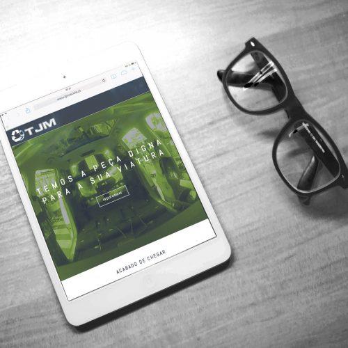 mobile Website TJM Recicla Portugal - peças automóvel