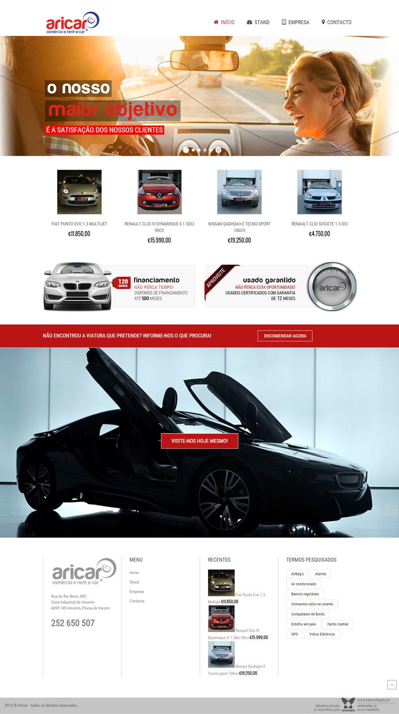 Aricar Stand Automóveis website
