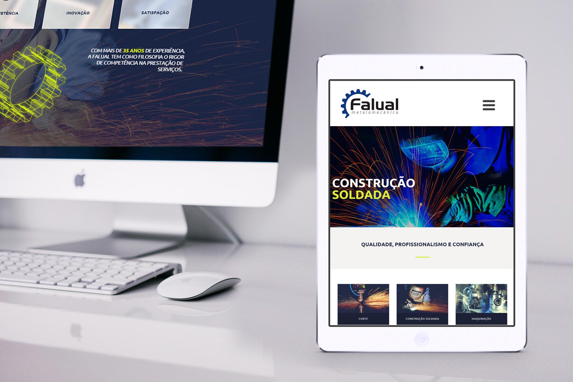 MacBook e ipad Falual Metalomecânica Website