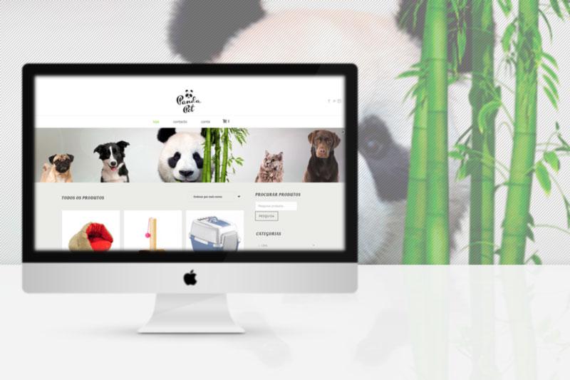 Panda Pet, petshop online website MacBook