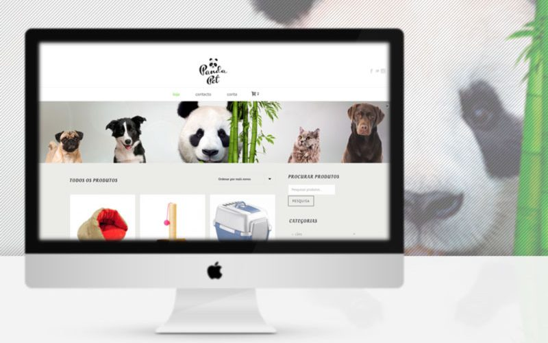 Panda Pet, petshop online website MacBook
