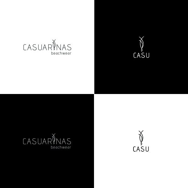 Logo Casuarinas beachwear preto e branco