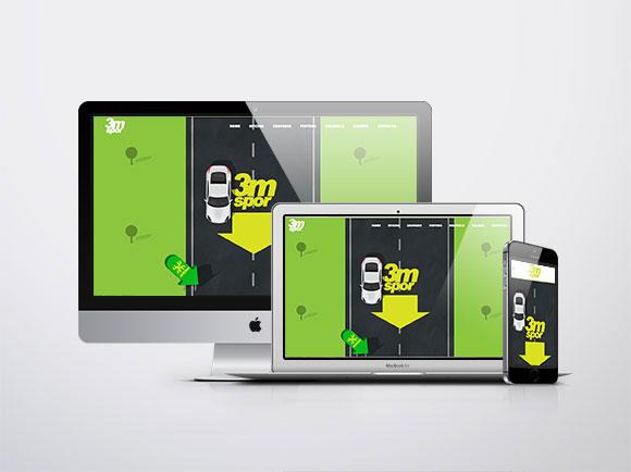 3M Spor Website responsivo Mac, Mac book, i phone