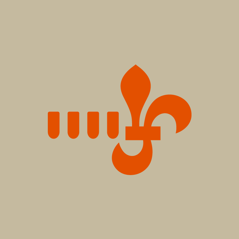 simbologia Lurdes Silva laranja no fundo bege