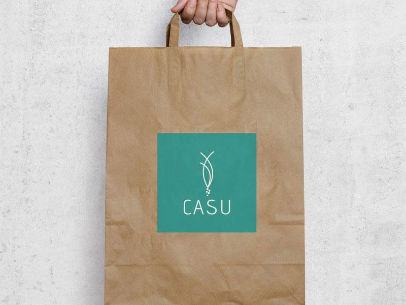 CASUARINAS logo saco papel craft