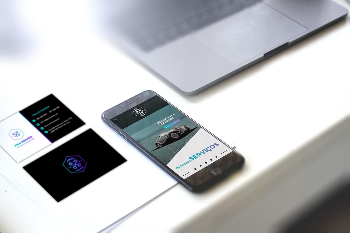 PMA Soares cartão de visita e versão mobile