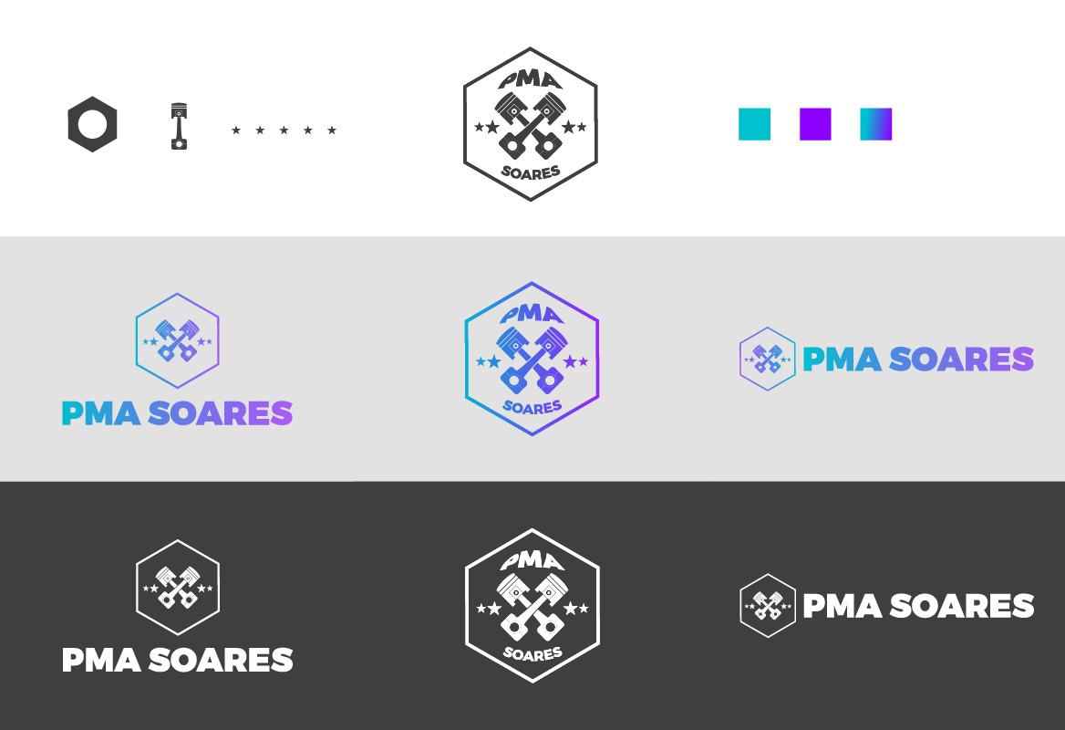 PMA Soares logótipo e variações