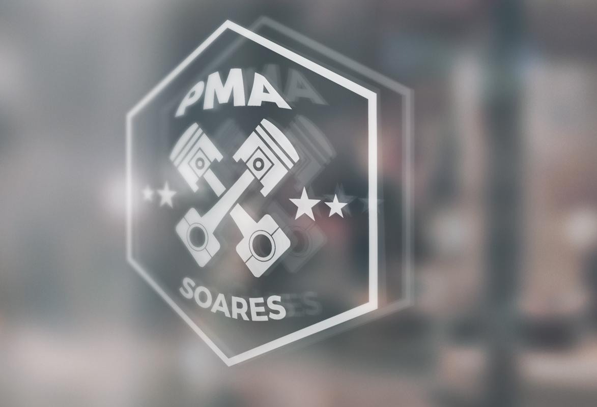 PMA Soares logo no vidro