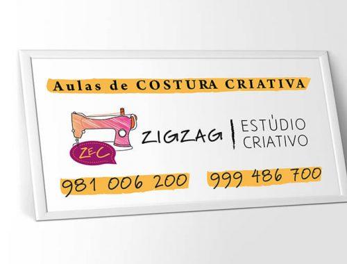 design placa ZEC costura criativa