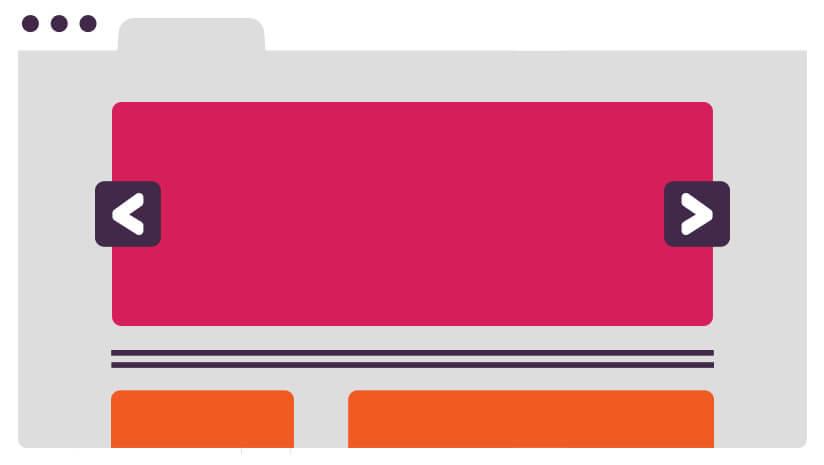 web design de interface desktop